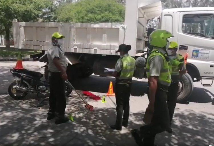 Volqueta del Municipio de Camargo involucrada en la muerte de una menor en Tarija