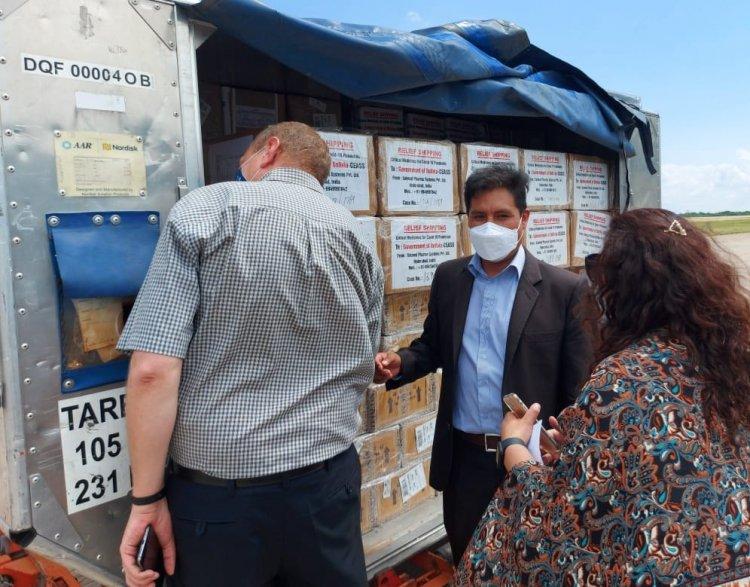 Llegan a Bolivia más de 15 toneladas de medicamentos para fortalecer la lucha contra la pandemia