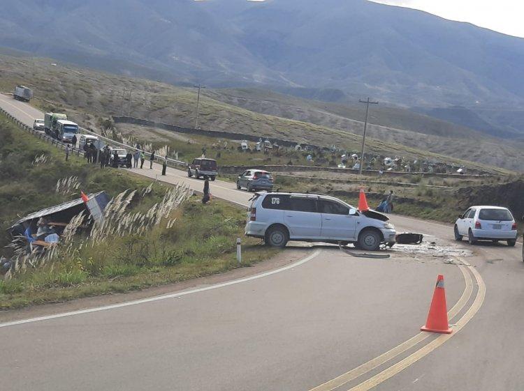 Un accidente en la ruta Tarija – Potosí  dejo varios heridos
