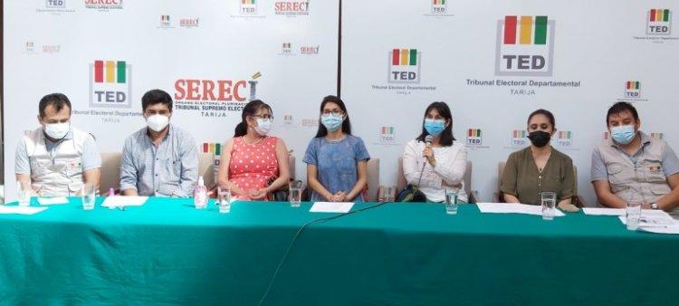 El TED Tarija convoca a la población a ejercer su derecho al voto en la segunda vuelta electoral