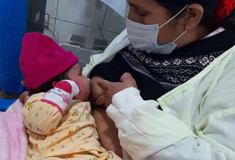 En Vallegrande nació una bebé de casi siete kilos