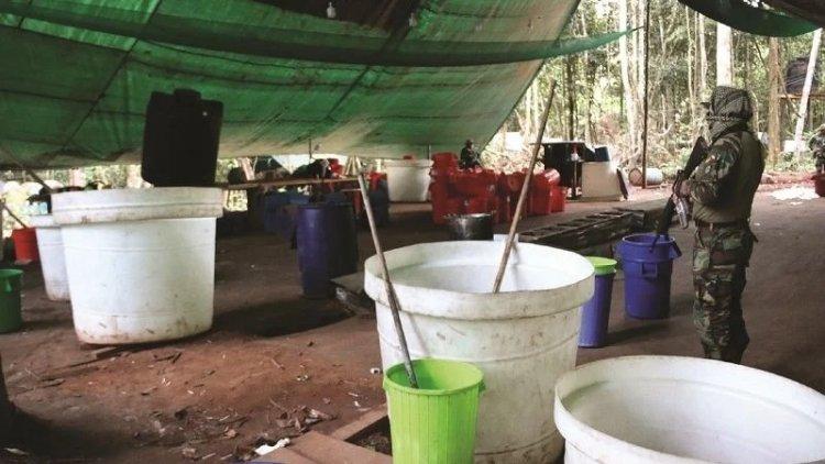 FELCN destruye 13 laboratorios de droga en la Amazonia del país