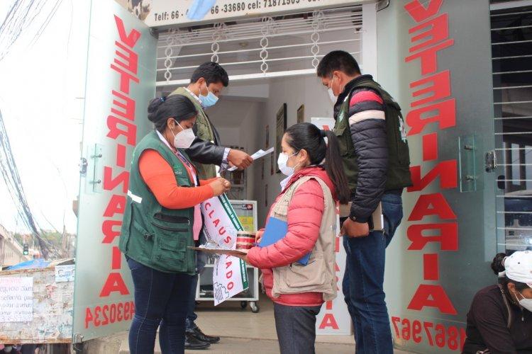Tarija: Dos veterinarias fueron clausuradas por no presentar registro sanitario