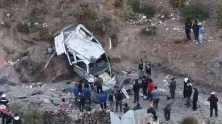 Identifican a los cinco funcionarios de la Gobernación de Potosí fallecidos en accidente de tránsito