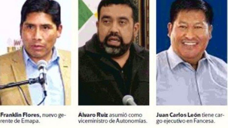 Tres candidatos derrotados del MAS ocupan cargos en el Estado