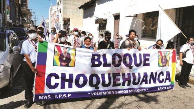 Desde el propio MAS emerge el llamado bloque Choquehuanca