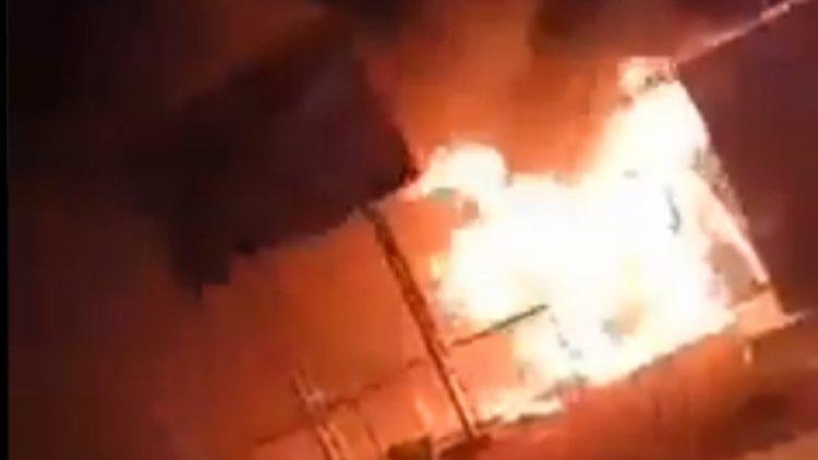 Incendian puesto de la Aduana en Villazón